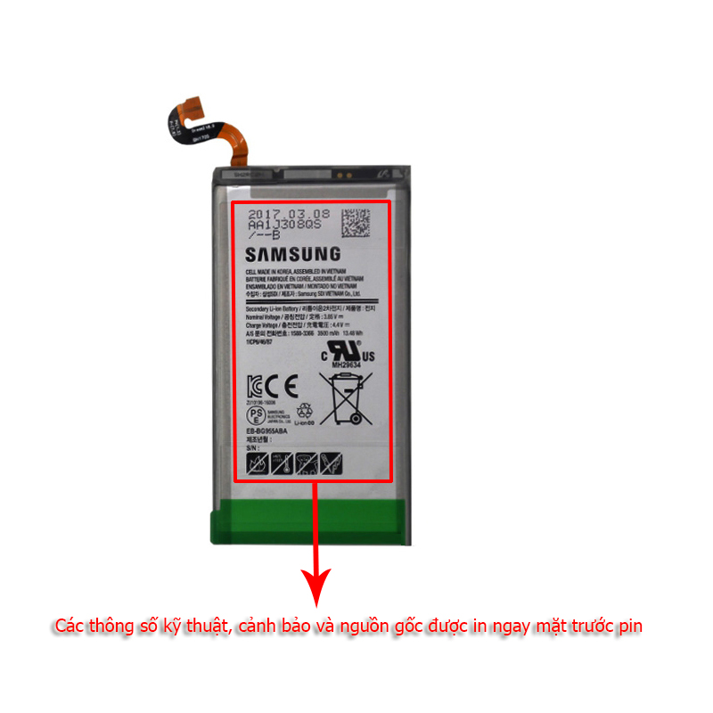 Pin Samsung S8 Plus chính hãng, bảo hành 6 tháng tại Hà Nội TPHCM
