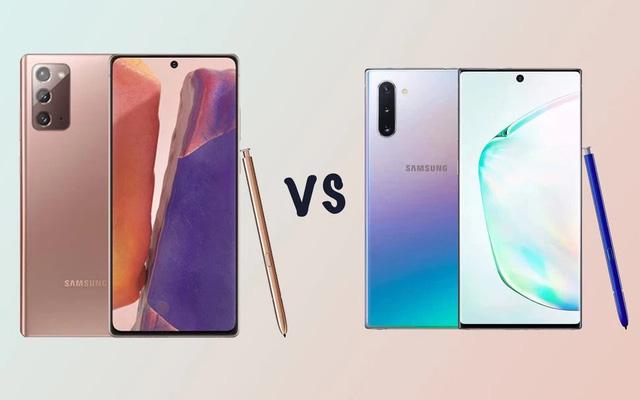 So sánh Samsung galaxy Note 20 Ultra và Galaxy Note 10 plus
